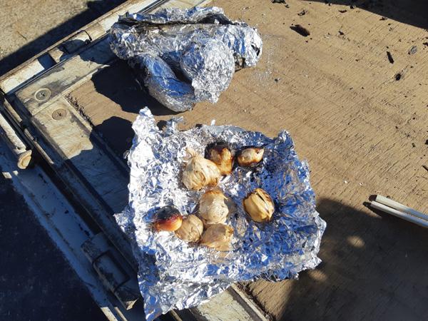 ニンニク焼き芋